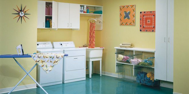 Modern Laundry Room by California Closets Fort Lauderdale