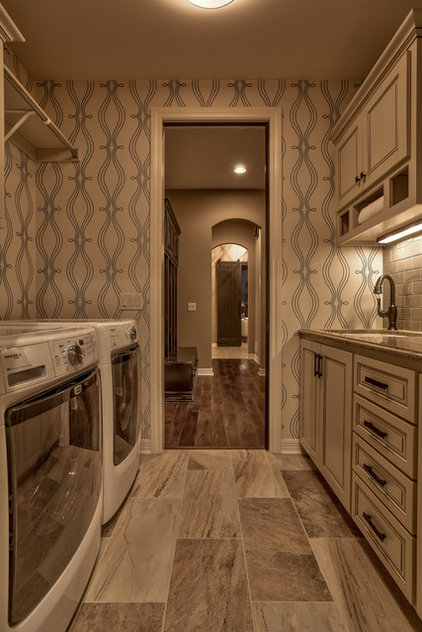 Transitional Laundry Room by Falcone Homes