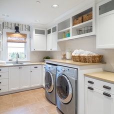 Transitional Laundry Room by Alan Mascord Design Associates Inc