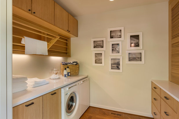 Midcentury Laundry Room by Rockwood Cabinetry