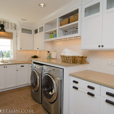 Traditional Laundry Room by JPID Construction & Design LLC