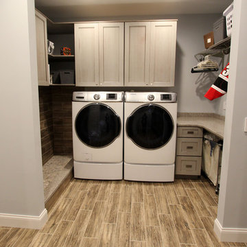 Stunning Laundry Room with Mud Room and Dog Washing Station ~ Brecksville, OH