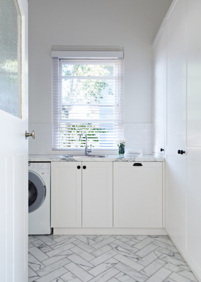 Transitional Laundry Room by Bloom Interior Design