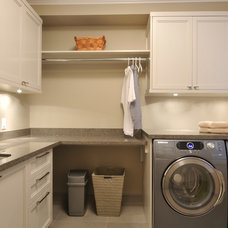 Transitional Laundry Room by CCI Renovations