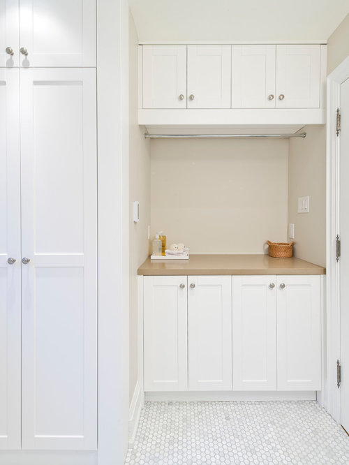 Laundry Closet Design Ideas, Remodels & Photos with Marble Floors