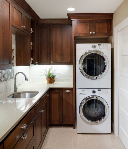 Traditional Laundry Room by Beth Rhoades-C&R Remodeling