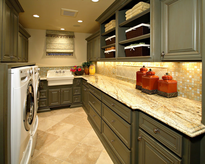Traditional Laundry Room by Linda Seeger Interior Design
