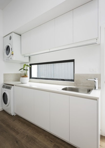 Contemporary Laundry Room by White Pebble Interiors