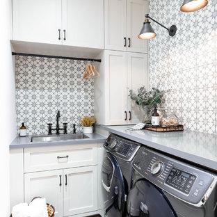 Inspiration för en vintage tvättstuga