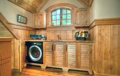Clever Ways to Hide a Laundry Station