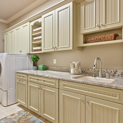 traditional laundry room by Teri Turan