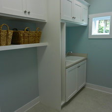 Tropical Laundry Room by Lendry Homes