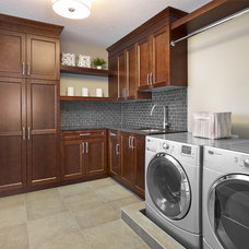 Transitional Laundry Room by Infiniti Master Builder