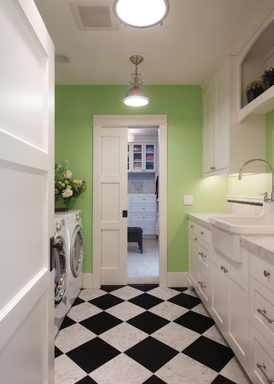 Traditional Laundry Room by Kristi Spouse Interiors