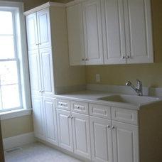 Traditional Laundry Room by Mark Johnson Custom Homes