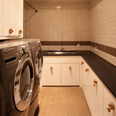 Contemporary Laundry Room by SB Architects