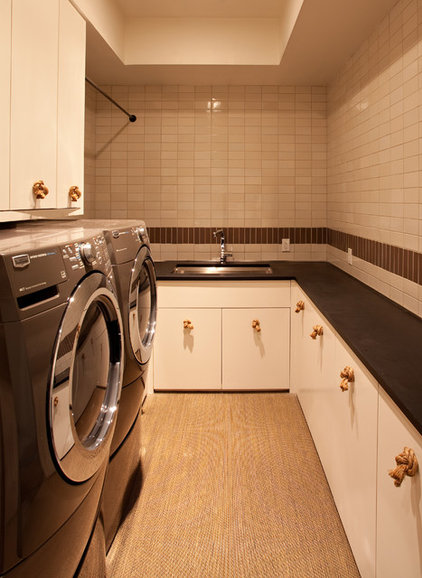 modern laundry room by SB Architects