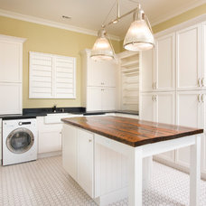 Traditional Laundry Room by Shoreline Construction and Development