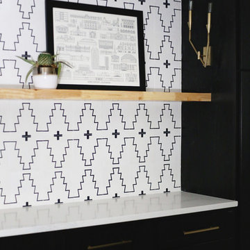 the laundry room just got way more fun with the new west encaustic cement tile!