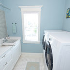 Hall Bath And Laundry Traditional Laundry Room