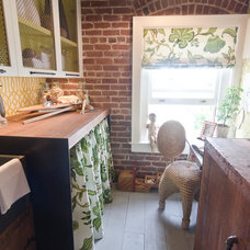 Eclectic Laundry Room by Alex Amend Photography