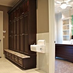 contemporary laundry room by Browning Homes, Inc.