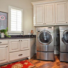 Traditional Laundry Room by Joseph Paul Homes