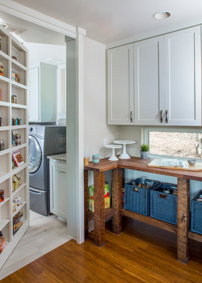Transitional Laundry Room by Jenkins Custom Homes