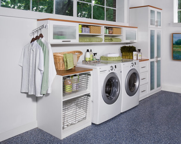 Contemporary Laundry Room by transFORM Home