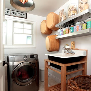 the unadorned laundry room