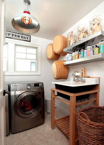Eclectic Utility Room by Kelley & Company Home