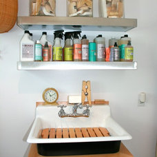 Eclectic Laundry Room by Kelley & Company Home