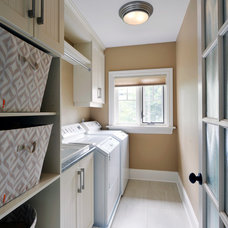 Traditional Laundry Room by Amsted Design-Build