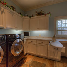 Contemporary Laundry Room by Crawford Builders