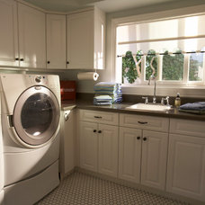Traditional Laundry Room by Mahoney Architects & Interiors