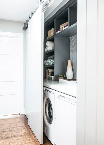Contemporary Laundry Room by Caitlin Jones Design