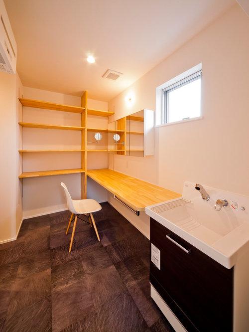 Modern laundry room design ideas renovations photos for Modern linoleum flooring