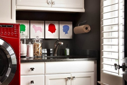 Contemporary Laundry Room by traci zeller designs
