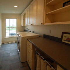 traditional laundry room by Kaufman Construction Design and Build