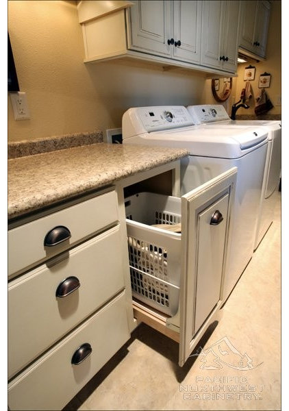 Traditional Laundry Room by Pacific Northwest Cabinetry