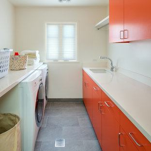 Inspiration for an eclectic laundry room remodel in Los Angeles