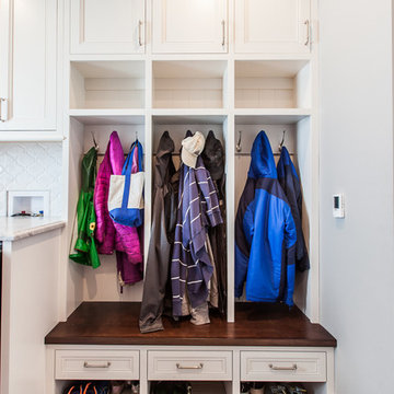 Traditional Laundry + Mudroom in Clarendon Hills