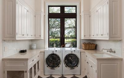 Rent ut sagt: Snygga tvättstugor med smarta lösningar