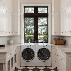 Traditional Laundry Room by Planning and Building, Inc