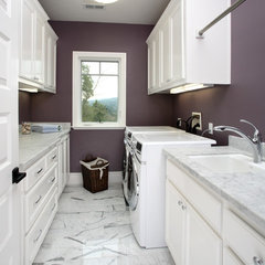 traditional laundry room by Precision Cabinets & Trim