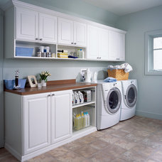 Contemporary Laundry Room by transFORM | The Art of Custom Storage
