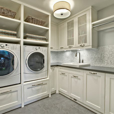 Transitional Laundry Room by Rockwood Custom Homes