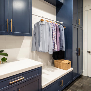 Transitional Elegance Laundry Room