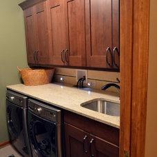 Transitional Laundry Room by Adam Hartig