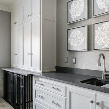 Transitional Laundry & Mud Room Combo in Overland Park, KS